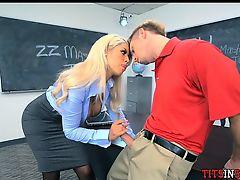 Teacher Gets Horny at School
