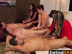 Amateur swingers pleasing partners in reality show