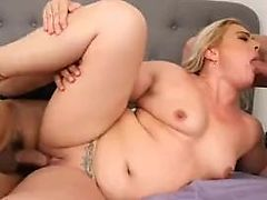 Big Booty White Wife Selah Rain Takes On Two Huge Cock