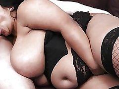 Black BBW masseuse makes sure the ending is happy