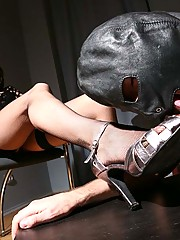 Fascinating smoking mistress is ready to punish the disobedient guy with strapon