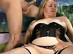 More Blonde German BBW Slut