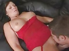 Hot Busty Brunette Mom Bangs Stepson