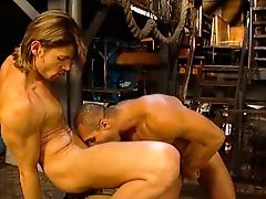 Hot Blowing Leather Chap Gets Anus Stretched