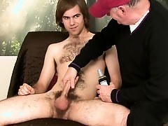 Str8 hairy dude sent by his dominatrix to make a video of him sucked off by a dude to degrade him.