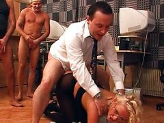 Natasha - Blond Secretary Gangbanged