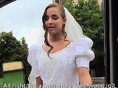 Gorgeous bride Amirah gets pussy fucked