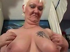 Horny Granny In Lingerie