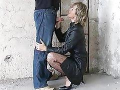 German Fantastci Blow Part 3 leather coat heels