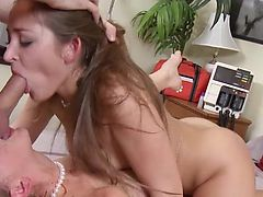 Milf housewife swaps cum with husbands nurse