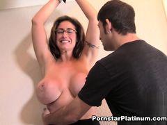Eva Notty in Hands Tied Tit Tickle Part 2
