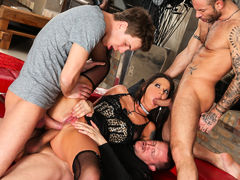 Simony Diamond, Mike Angelo, Markus Dupree in Rocco's Perfect Slaves #05, Scene #03