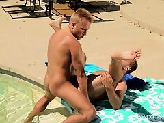 NextDoorBuddies Outdoor FUCK By The Pool