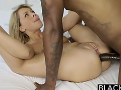 Cheating Blonde GF Barely Takes BBC