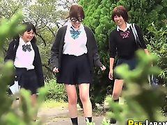 Japanese urinates in park