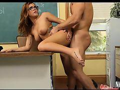 Nice Tits Brunette Fucked On Teachers Desk Keisha Grey