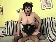 Horny housewife doing her toyboy