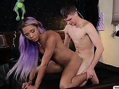 Shemale Mara and her bf indulges in anal